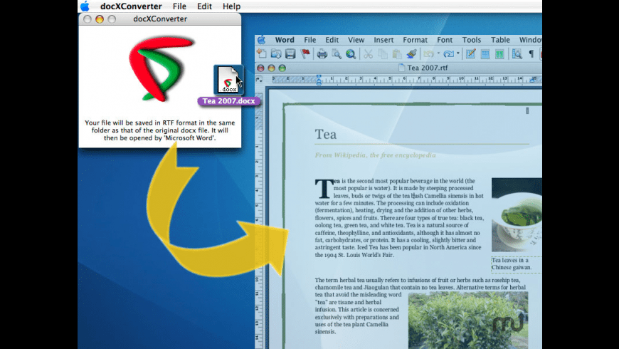docXConverter for Mac - review, screenshots