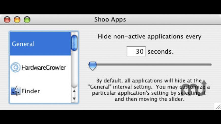 Shoo Apps for Mac - review, screenshots