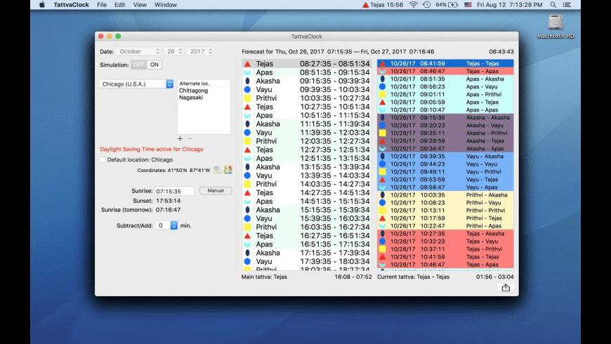 TattvaClock for Mac - review, screenshots