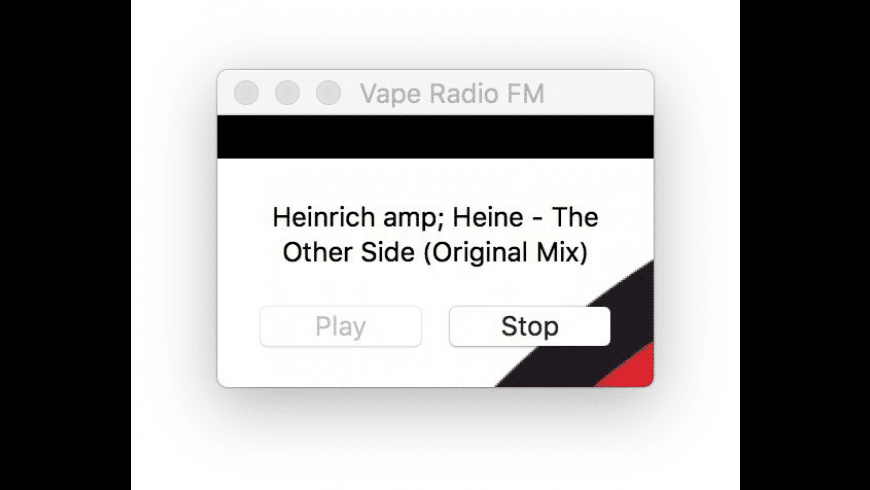VapeRadioFM for Mac - review, screenshots