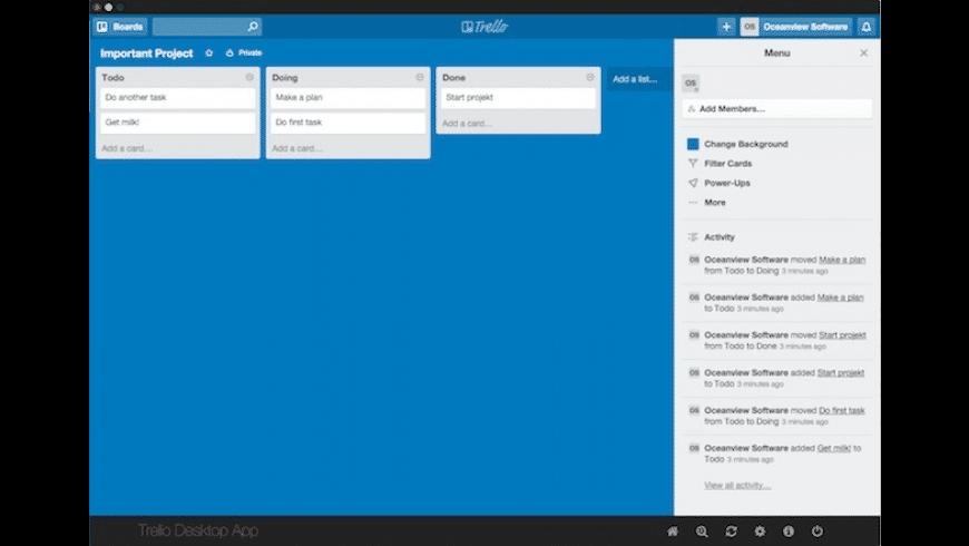 Trello Desktop for Mac - review, screenshots