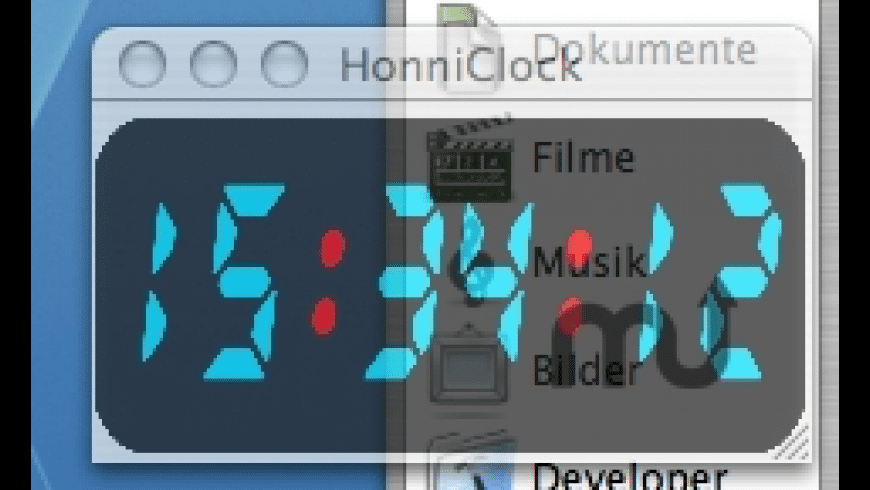 HonniClock for Mac - review, screenshots