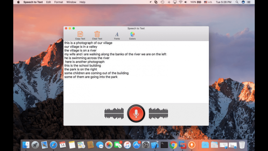 Speech To Text for Mac - review, screenshots