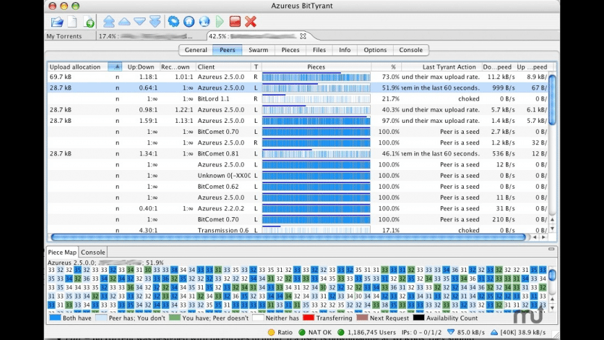BitTyrant for Mac - review, screenshots