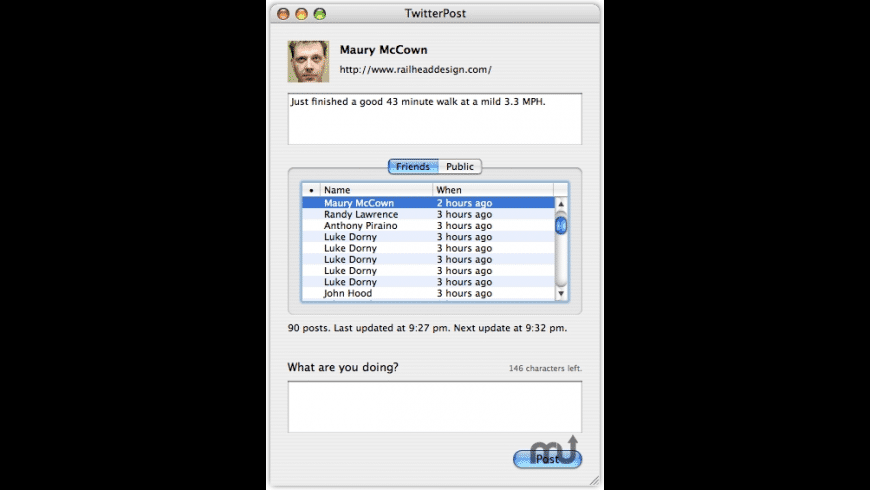 TwitterPost for Mac - review, screenshots
