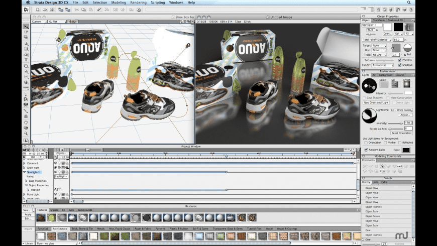 Strata Design 3D CX for Mac - review, screenshots