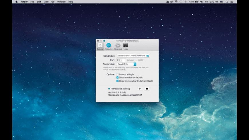 FTP Server for Mac - review, screenshots