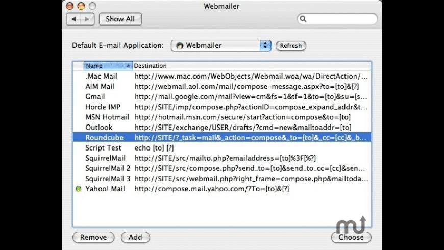 Webmailer for Mac - review, screenshots