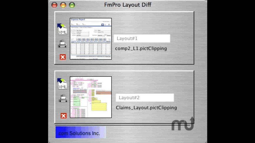 FmPro Layout Diff for Mac - review, screenshots
