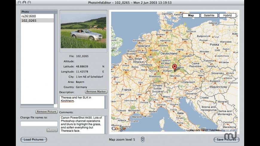 PhotoInfoEditor for Mac - review, screenshots