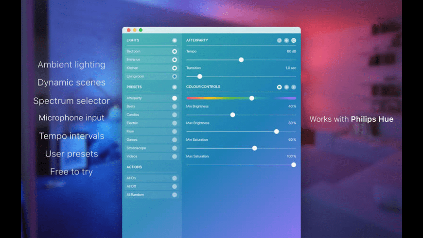 Hue Party for Mac - review, screenshots