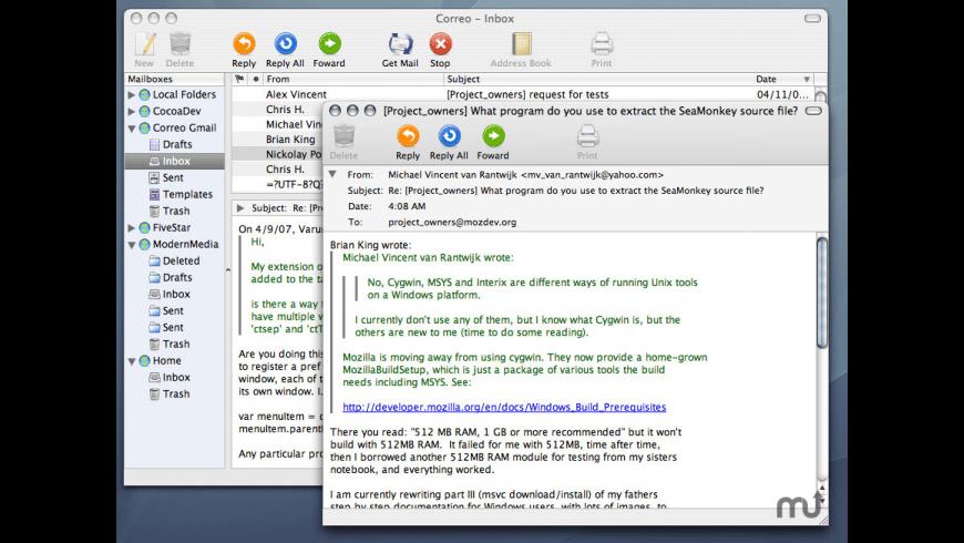 Correo for Mac - review, screenshots