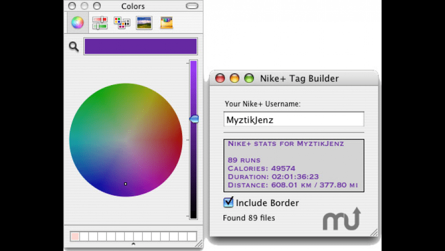 Nike+ Tag Builder for Mac - review, screenshots
