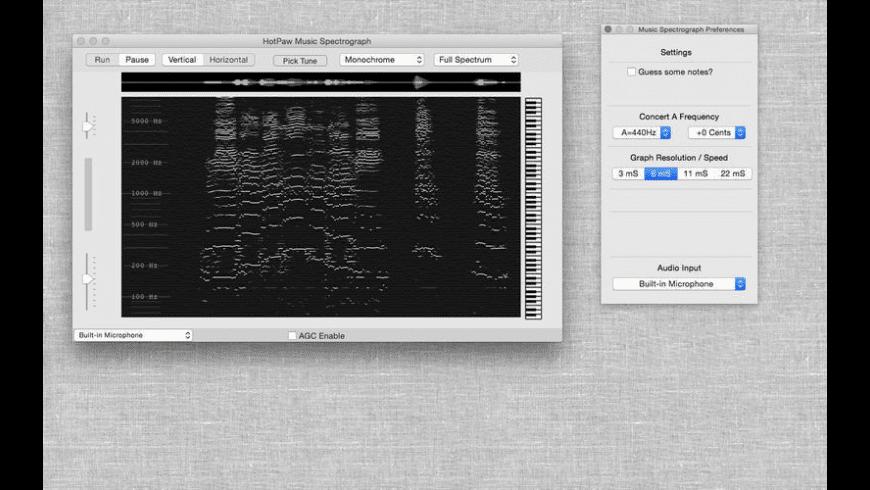 Music Spectrograph for Mac - review, screenshots