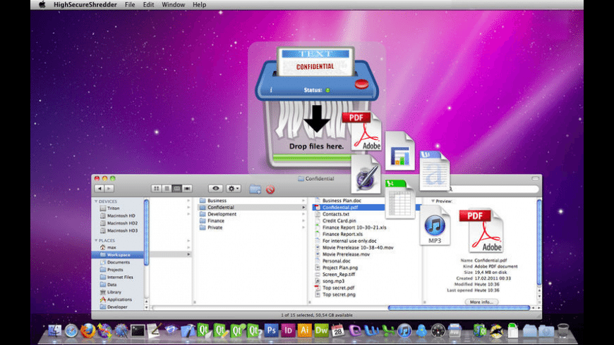 High Secure Shredder for Mac - review, screenshots