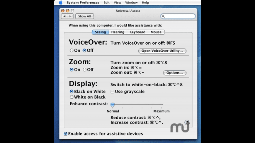 OpenAccessibility for Mac - review, screenshots