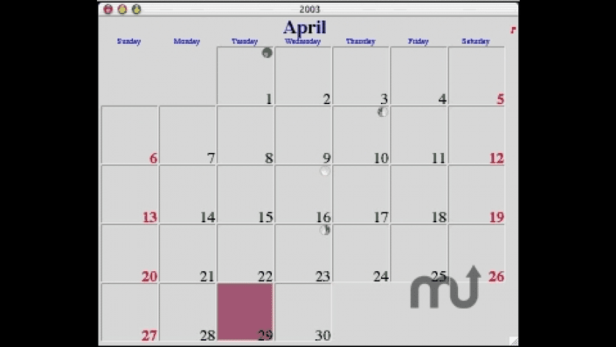 My Calendar 2008 for Mac - review, screenshots