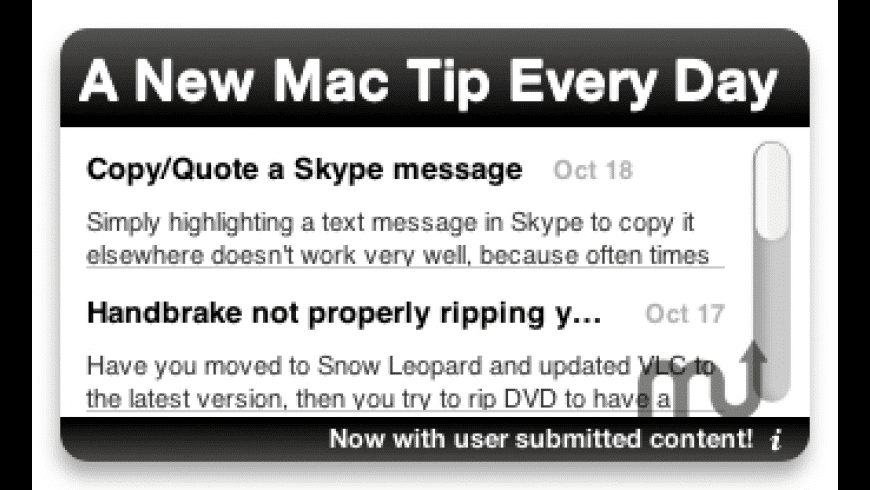 A New Mac Tip Every Day for Mac - review, screenshots