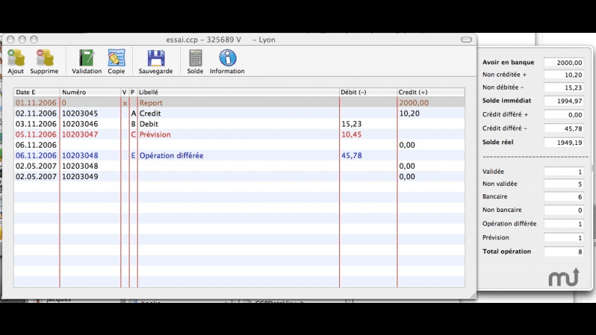 compteCCP for Mac - review, screenshots