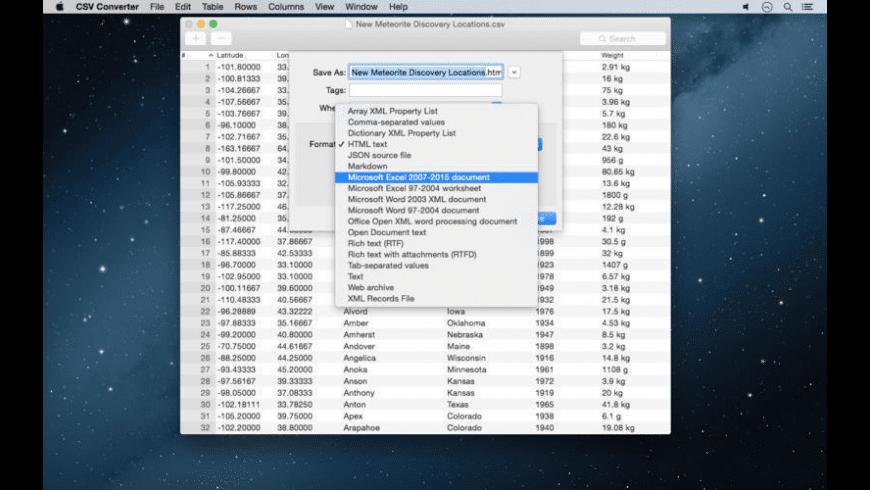 CSV Converter for Mac - review, screenshots