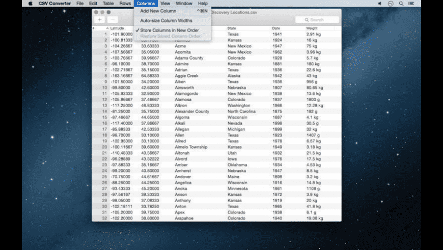 CSV Converter for Mac - review, screenshots