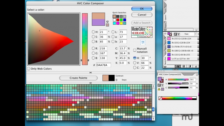 HVC Color Composer Pro for InDesign for CS4 for Mac - review, screenshots
