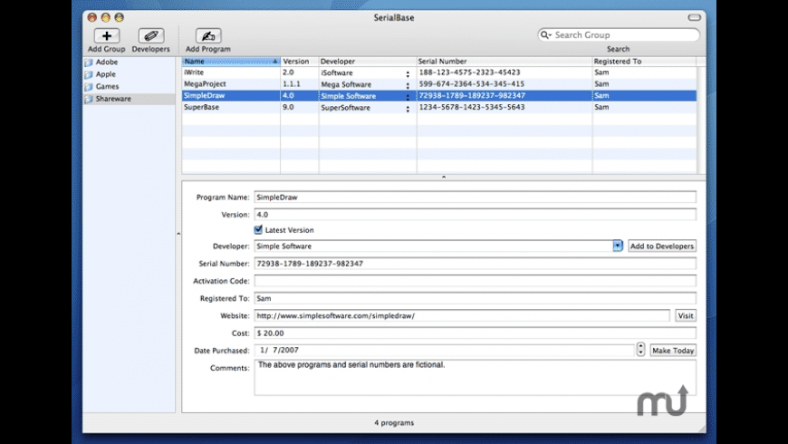 SerialBase for Mac - review, screenshots