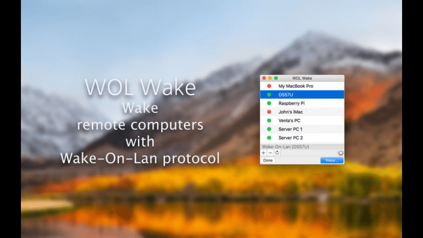 WOL Wake for Mac - review, screenshots