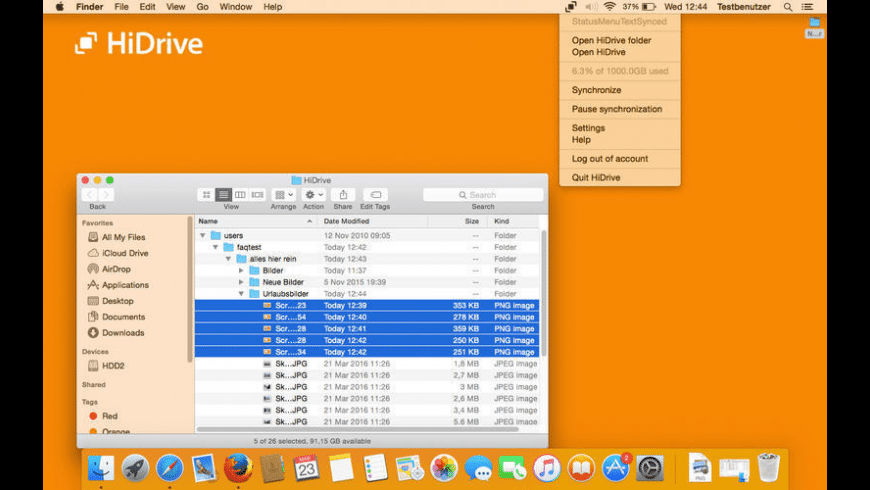HiDrive for Mac - review, screenshots