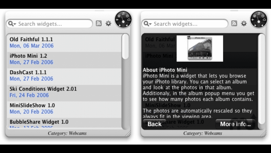 More Widgets for Mac - review, screenshots
