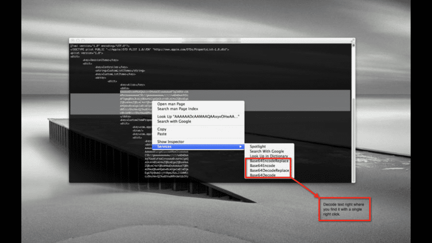 Base64Anywhere for Mac - review, screenshots