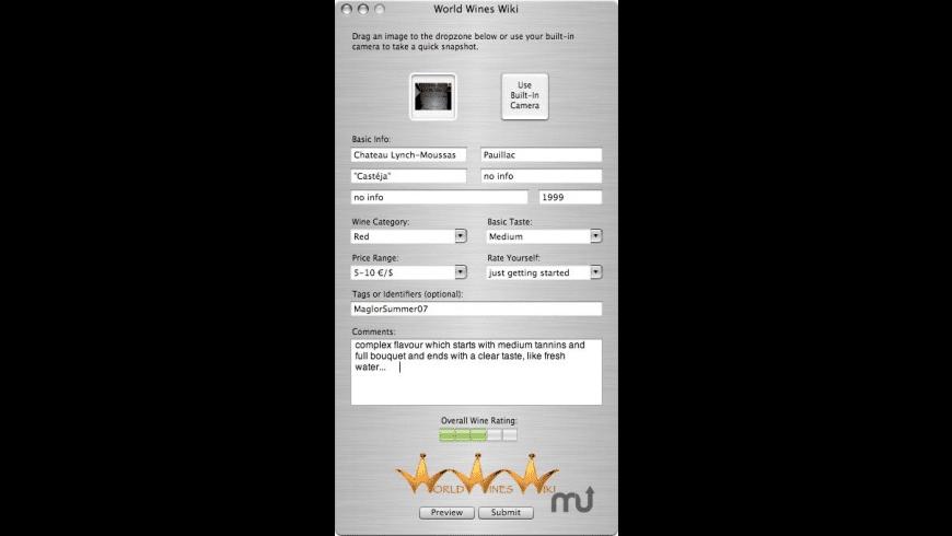 WorldWinesWiki for Mac - review, screenshots