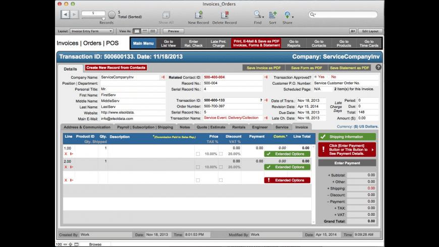 BusAcc X for Mac - review, screenshots