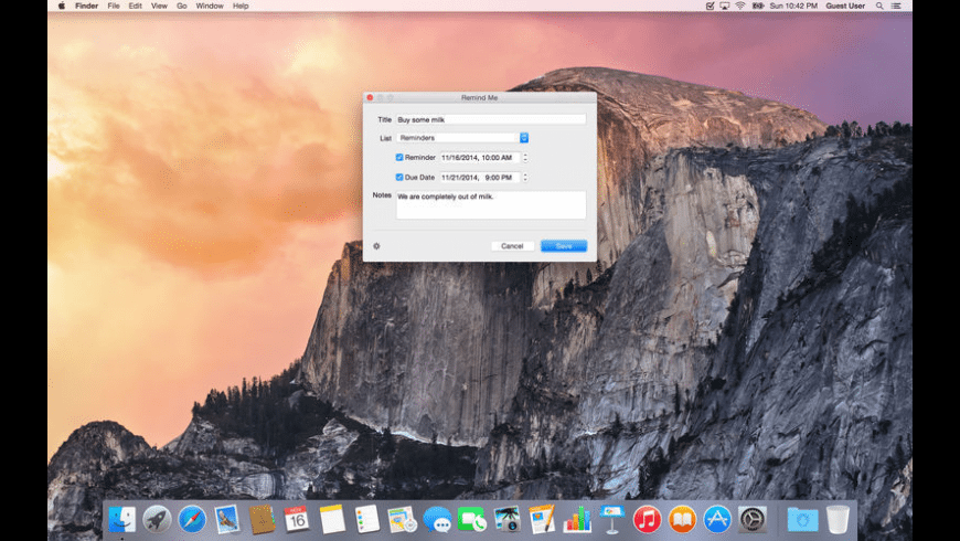 Remind Me for Mac - review, screenshots
