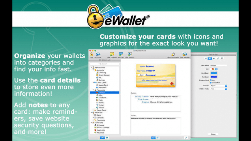 eWallet for Mac - review, screenshots