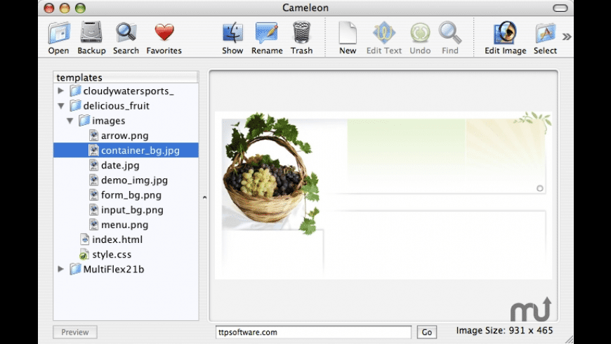 Cameleon for Mac - review, screenshots