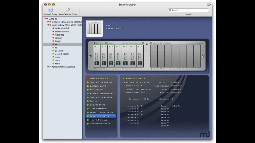 Xserve RAID Monitoring Plug-in for Mac - review, screenshots
