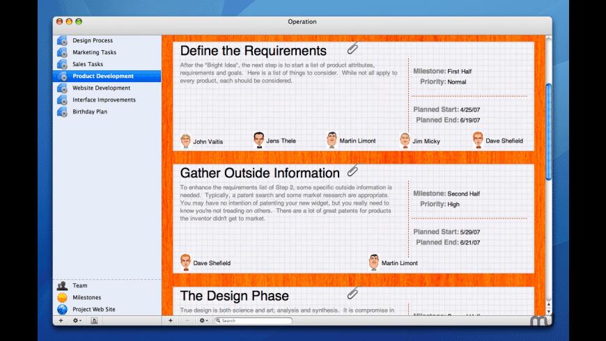 Operation for Mac - review, screenshots
