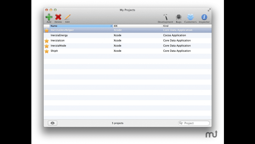 InerziaDevHelper for Mac - review, screenshots