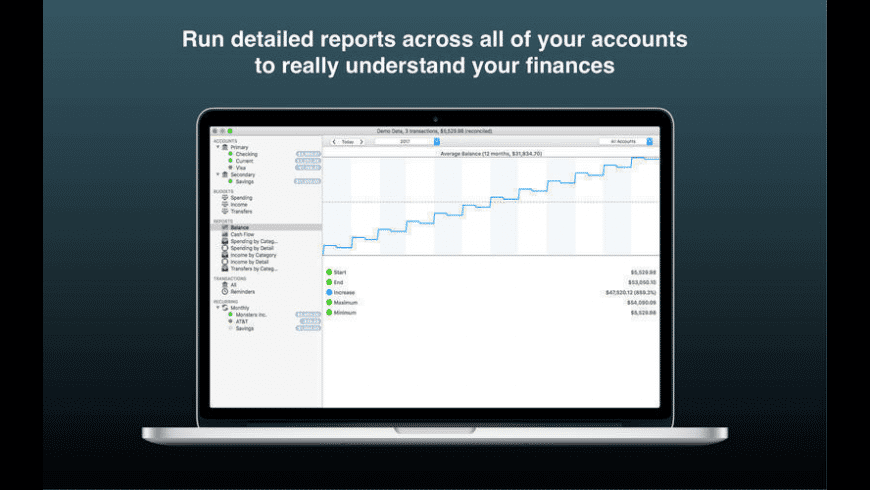 Account Tracker for Mac - review, screenshots
