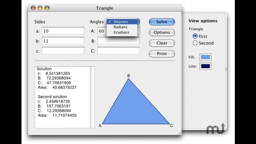 Triangle for Mac - review, screenshots