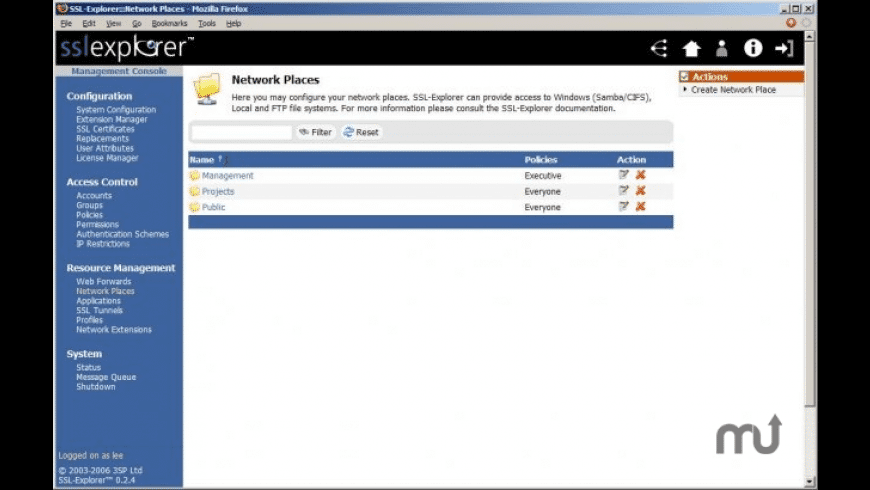 SSL-Explorer Enterprise Edition for Mac - review, screenshots