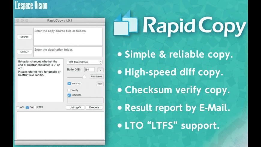 RapidCopy for Mac - review, screenshots