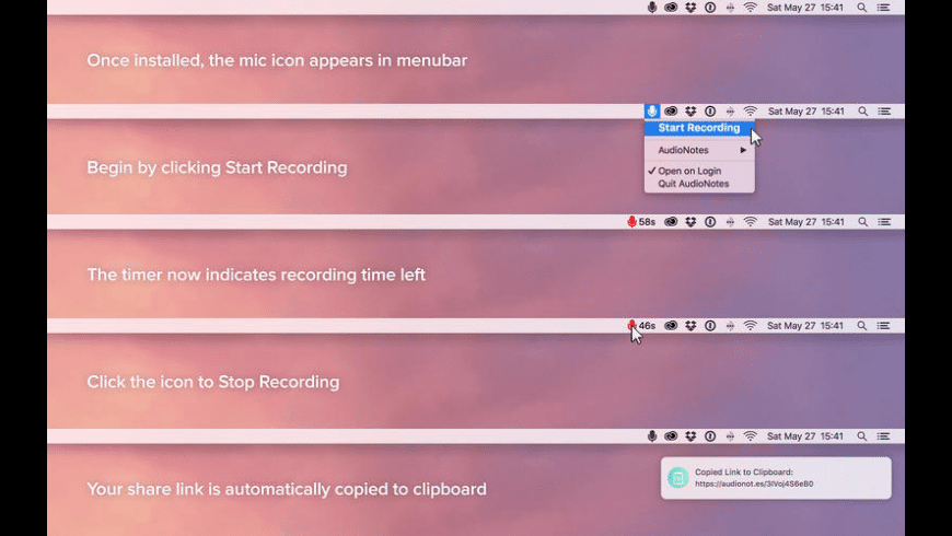 AudioNotes for Mac - review, screenshots