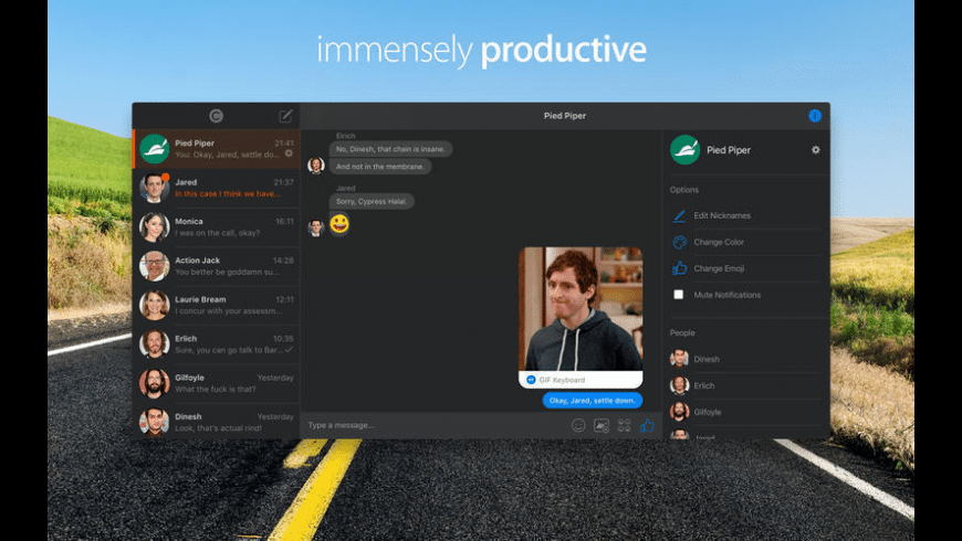Chatty for Facebook Messenger for Mac - review, screenshots