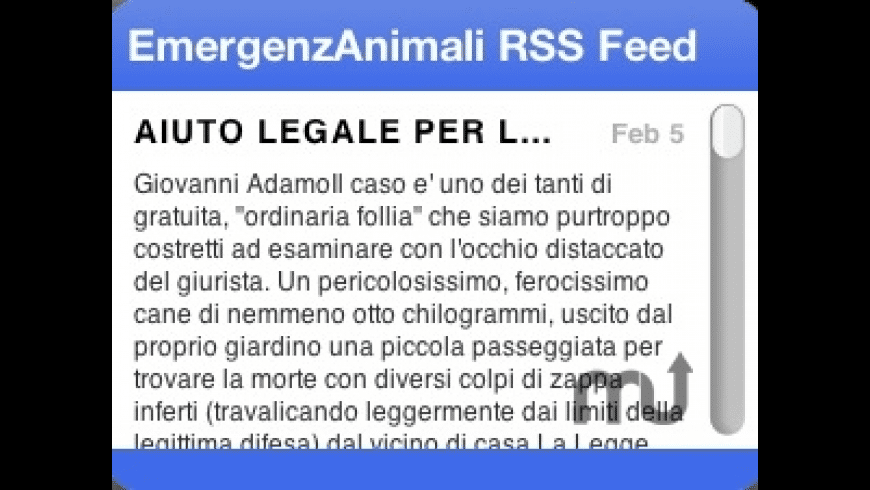 EmergenzAnimali Annunci RSS Feed for Mac - review, screenshots
