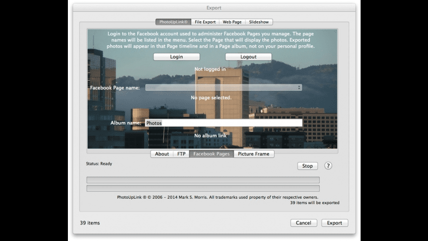 PhotoUpLink for iPhoto for Mac - review, screenshots