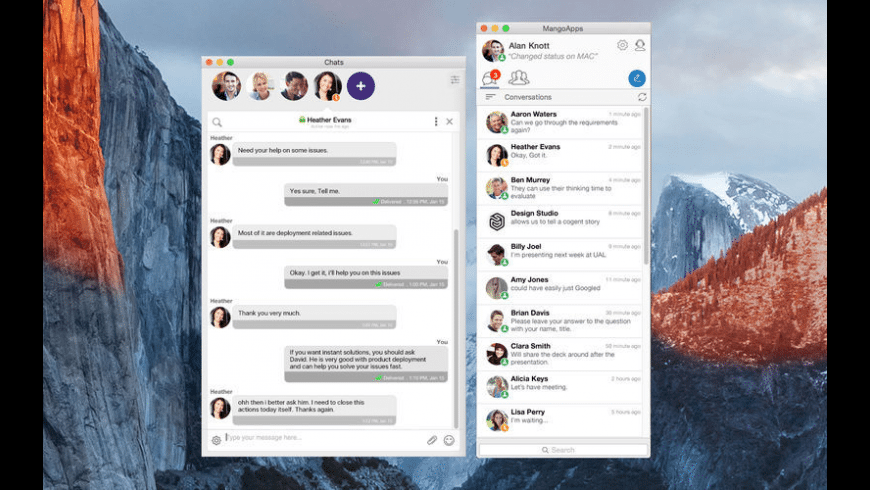 Office Chat for Mac - review, screenshots