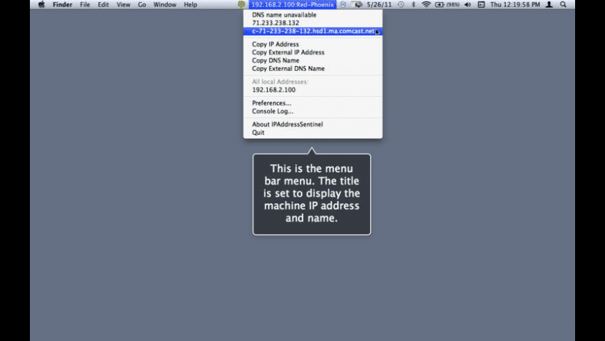 IPAddressSentinel for Mac - review, screenshots