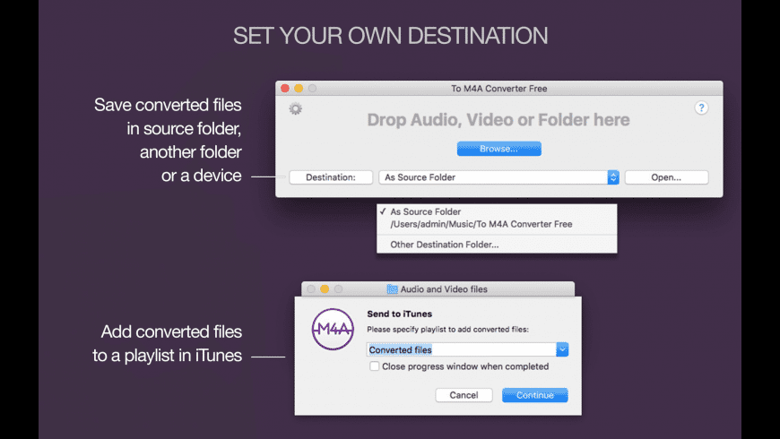 To M4A Converter for Mac - review, screenshots